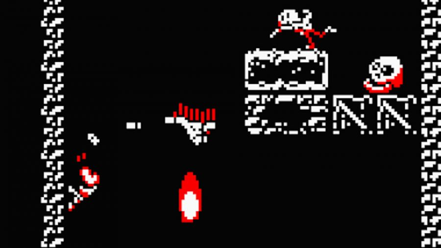 Downwell gameplay