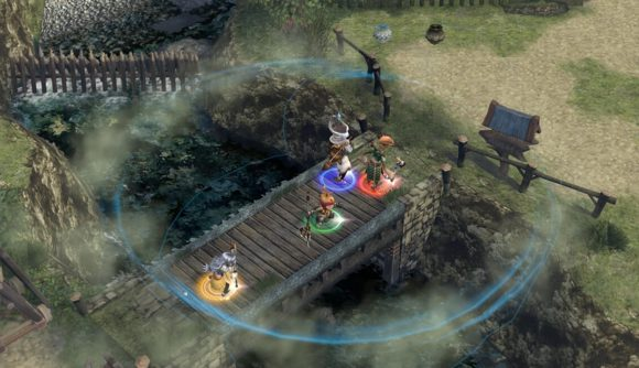 A battle in Final Fantasy Crystal Chronicles
