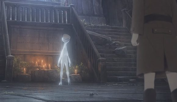 Deemo staring at the protagonist character