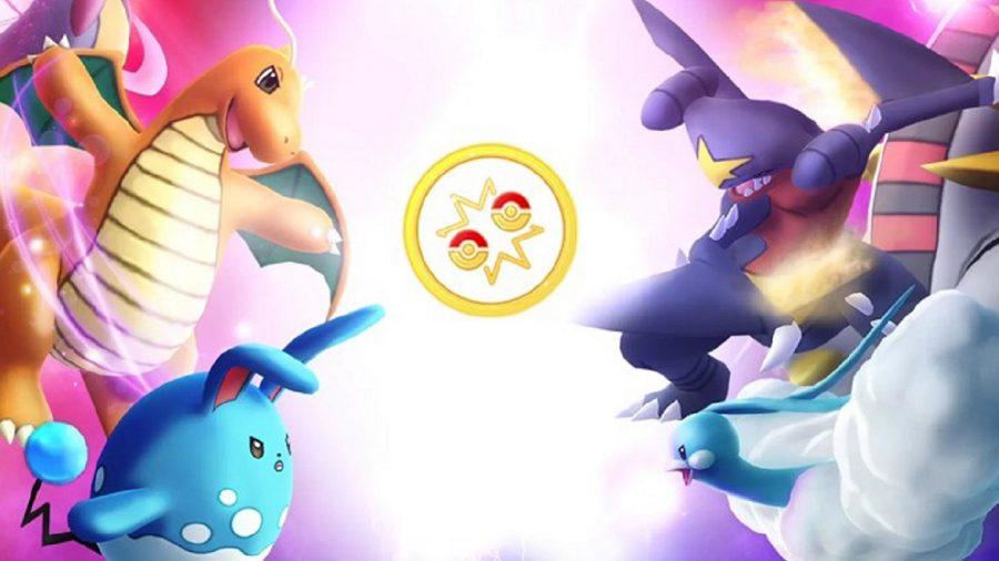 A group of Pokémon in a fight