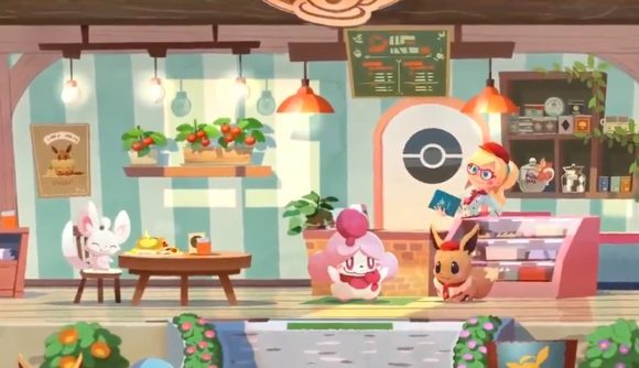 Gameplay from Pokemon Cafe Mix
