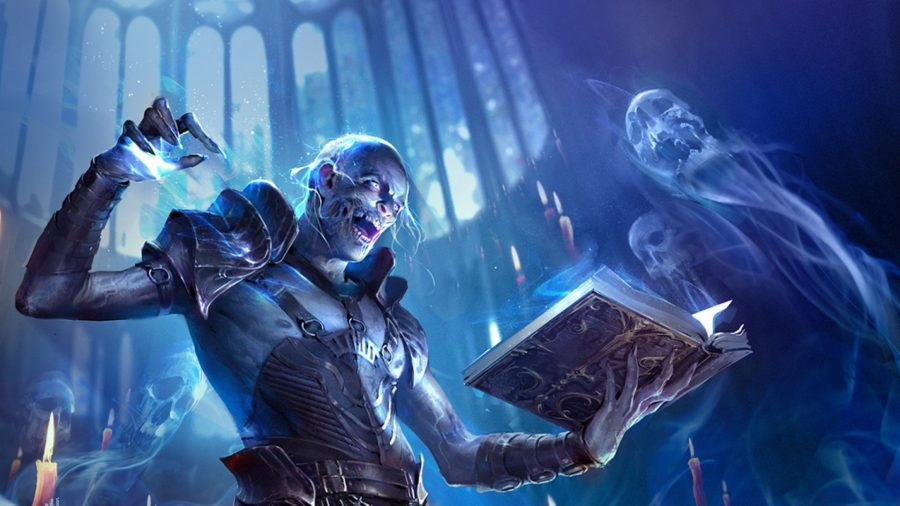Raid: Shadow Legends PC: an undead mage casts a spell in Raid: Shadow Legends