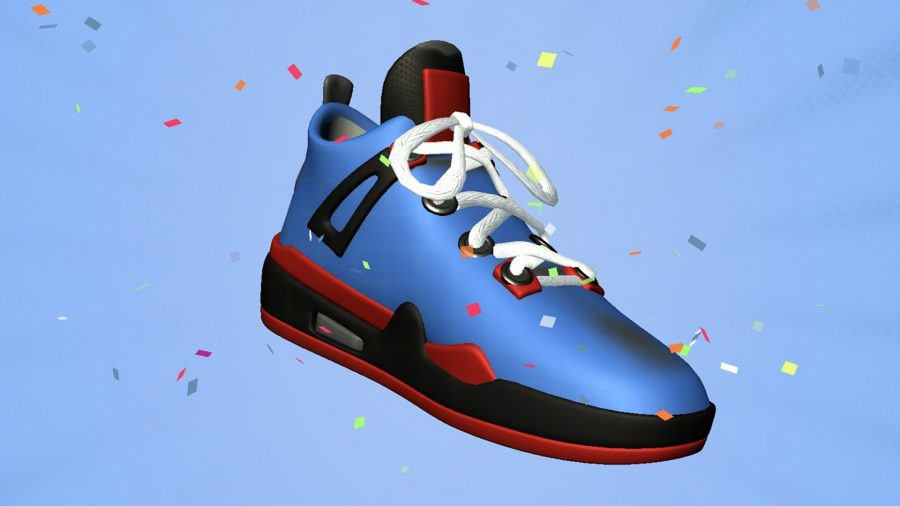 A finalised shoe in Sneaker Art!