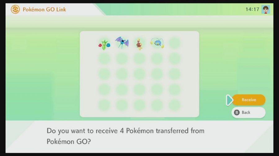 Tranferring Pokémon in a box