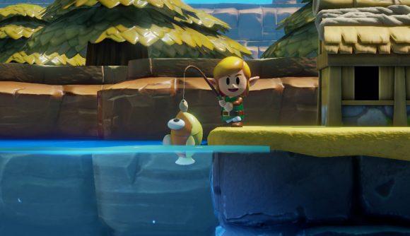 Cartoon link fishing