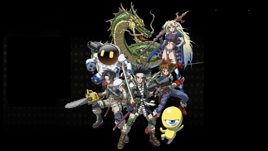 The heroes of Collection of SaGa: Final Fantasy Legend