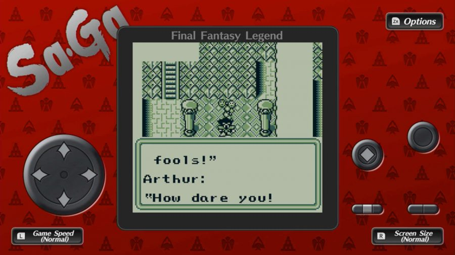 A character in Collection of SaGa: Final Fantasy Legend speaking to someone