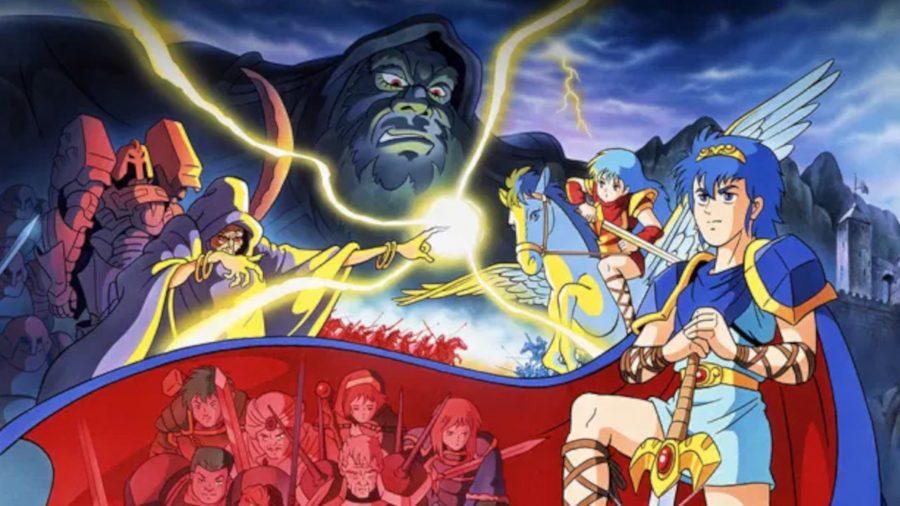 The official artwork for the NES cover for the original Fire Emblem