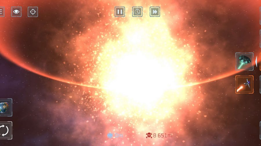 A planet exploding in Solar Smash