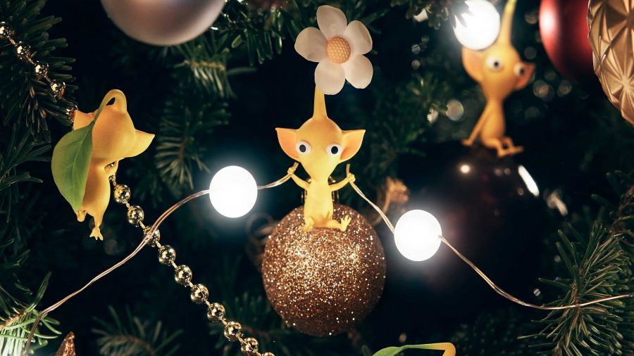 Yellow Pikmin connecting lights