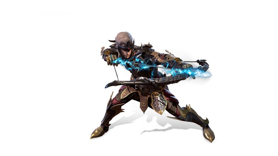 A Bless Mobile ranger targeting an attack with a bow and arrow