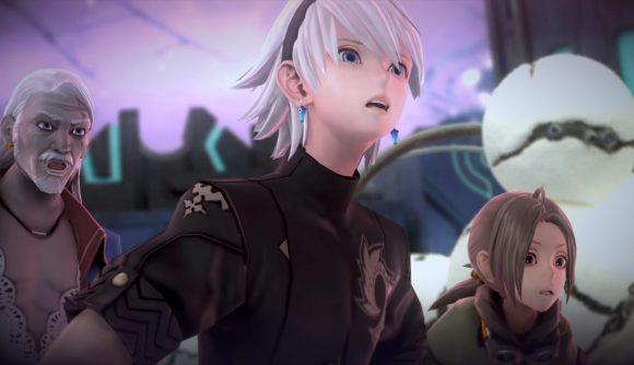 Fantasian characters looking surprised