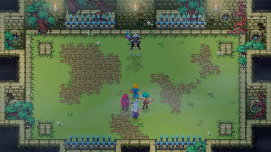 Oceanhorn: Chronos Dungeon heroes facing off against boss