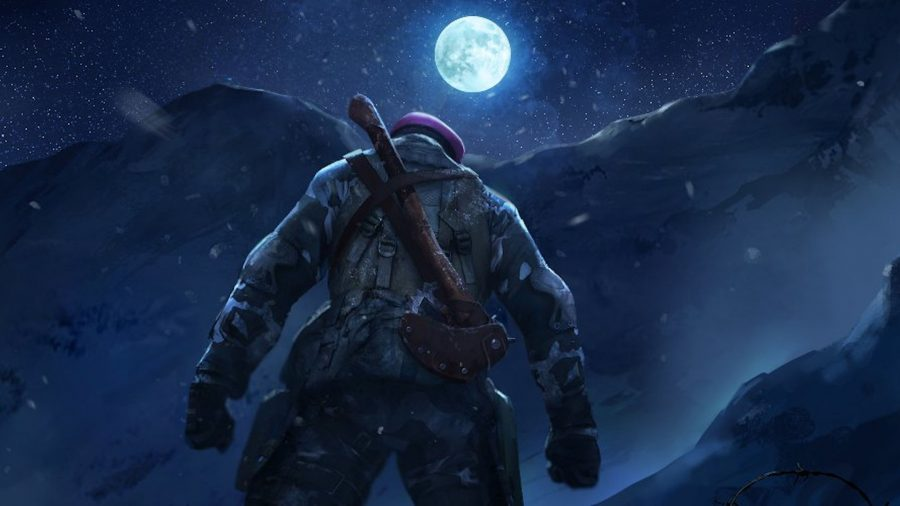 A FAU-G commando staring at the moon
