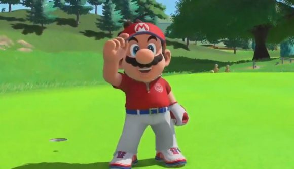 Mario in his golf attire