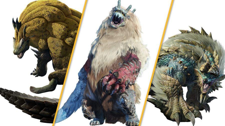 Three dangerous monsters