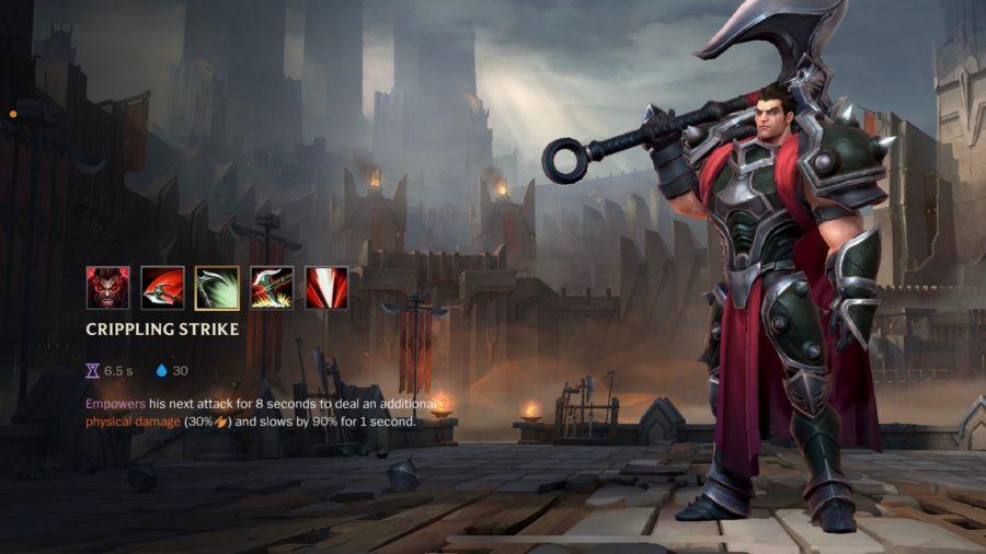 Darius's Crippling Blow skill detailed in League of Legends: Wild Rift