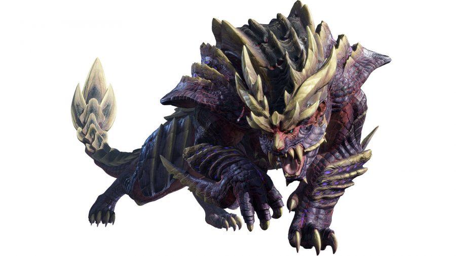 A fierce purple monster