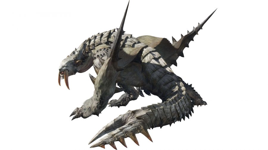 A monster with teeth like a saber-toothed tiger