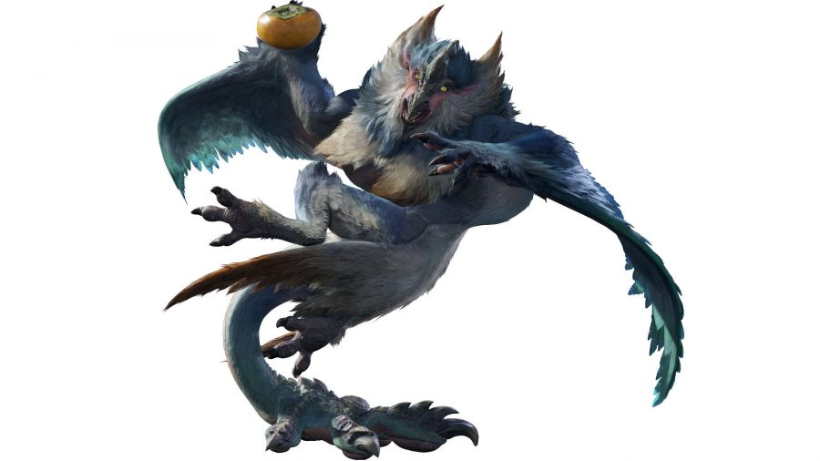 A monster holding a fruit
