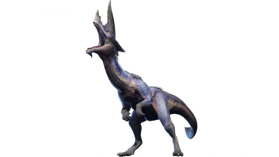 A dinosaur-like monster screeching