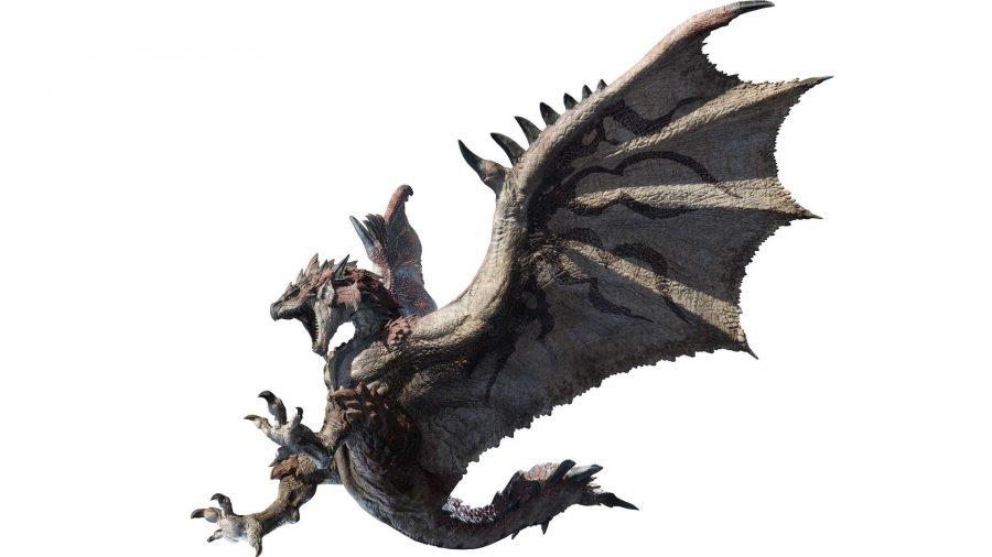 A monster descending from the sky