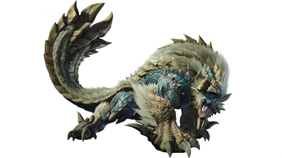 A monster with a huge spiked tail
