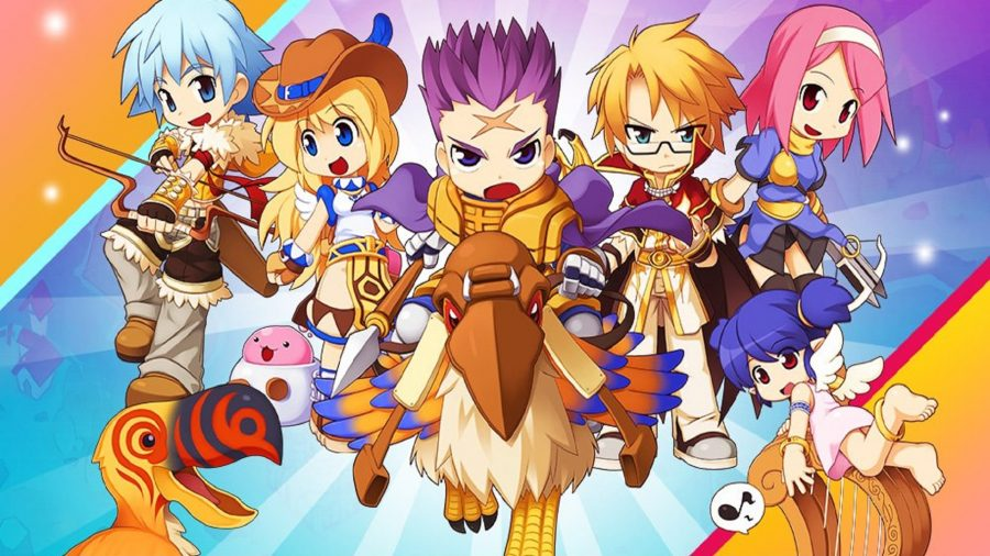 A group of heroes with a dodo bird