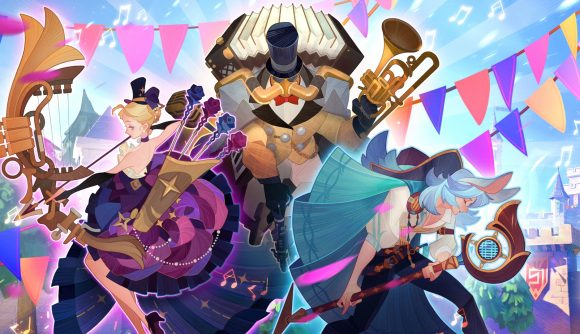 AFK Arena characters celebrating the game's second anniversary