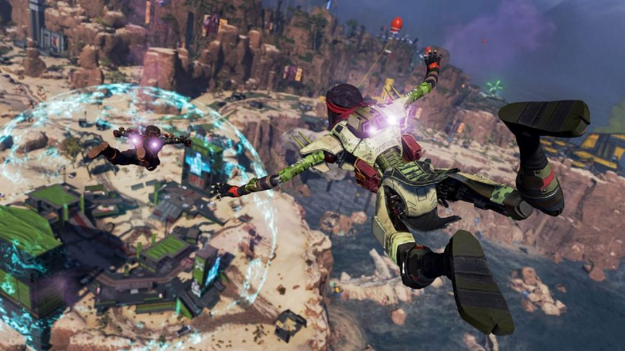 Diving down to the battlefield in Apex Legends