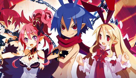 Disgaea RPG cast posing