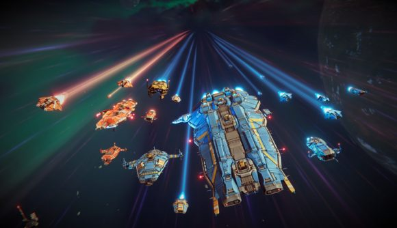 Spacecraft heading into battle