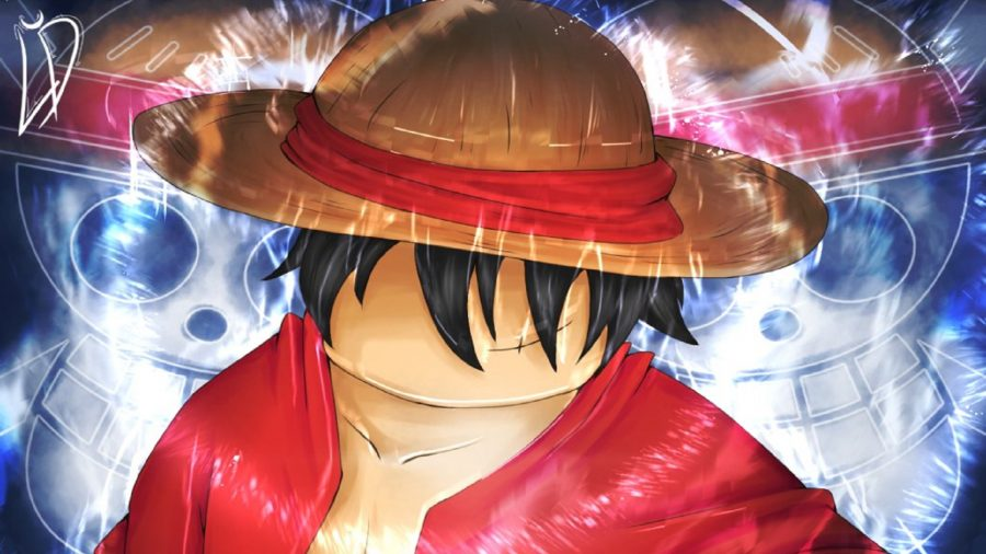 A faceless man wearing a straw hat