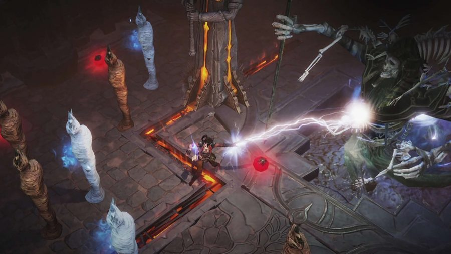A boss battle in Diablo Immortal