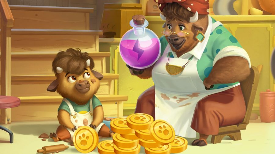 A cow gives free spins to a baby cow in Pet Master