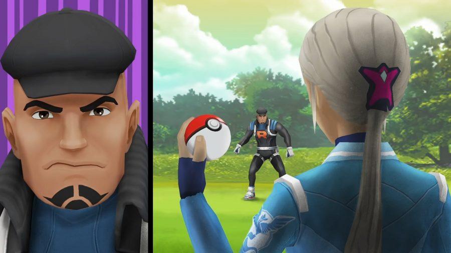 Two people in a Pokemon battle