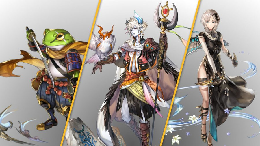 Another Eden characters, Cyrus, Dunarith and Felmina