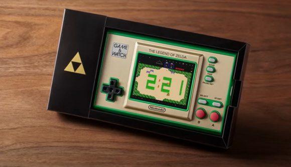Game & Watch console showing original Zelda game