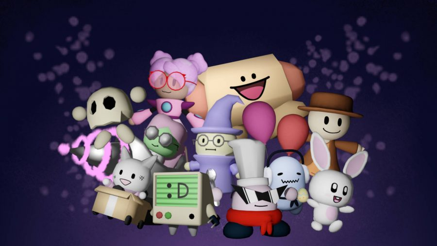 A group of Tower Heroes characters on a dark background