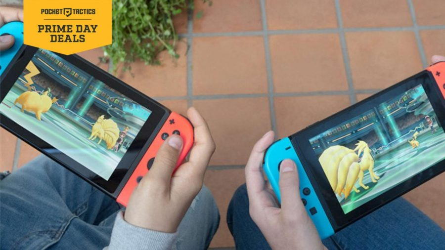 two nintendo switches being played