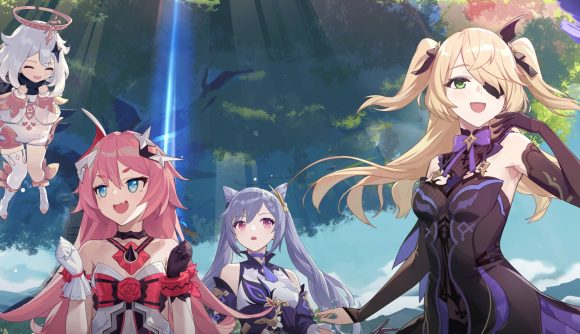 Characters from the Honkai Impact x Genshin Impact collaboration