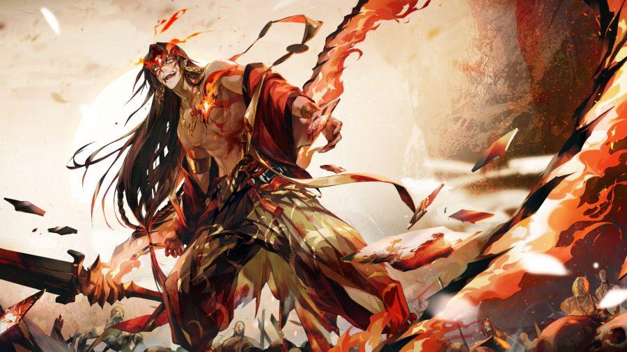 Asura wielding a giant sword