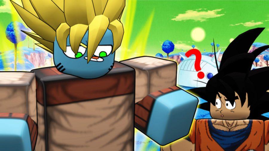 Goku looking confused