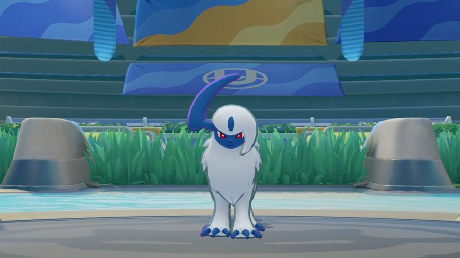 Absol stood in an arena
