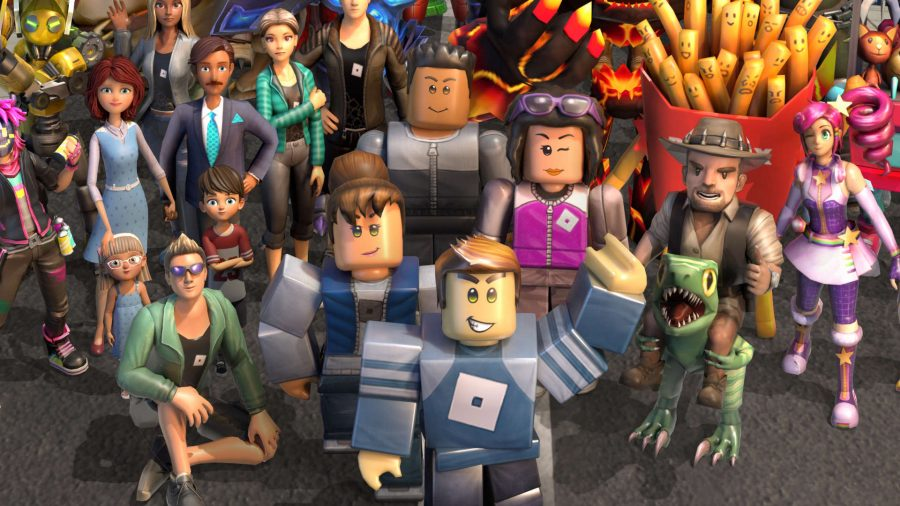 A group of Roblox avatars