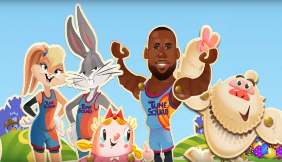 Lola Bunny, Bugs Bunny, and LeBeron James in Candy Crush