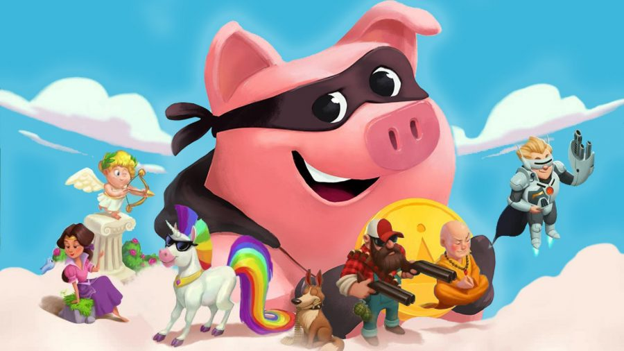 A pig giving our Coin Master free spins
