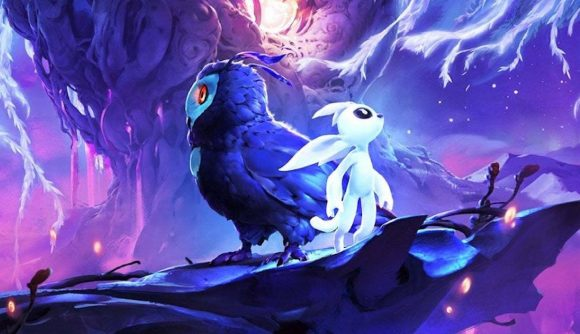Ori and an owl friend stand