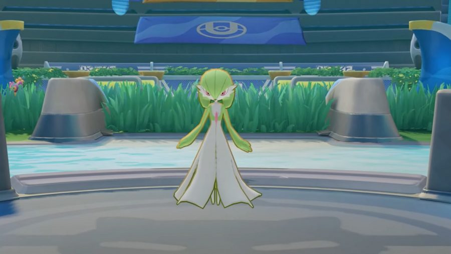 Gardevoir stood in the arena