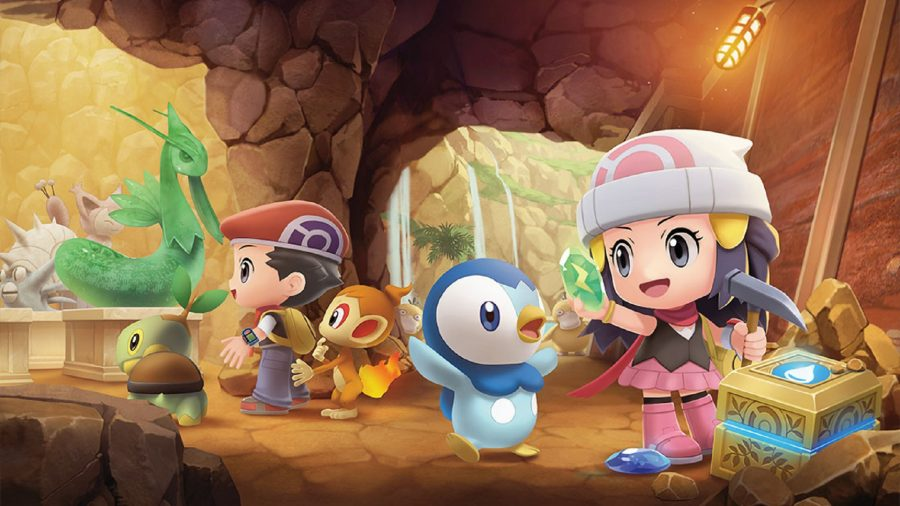 Pokémon Brilliant Diamond and Shining Pearl characters underground